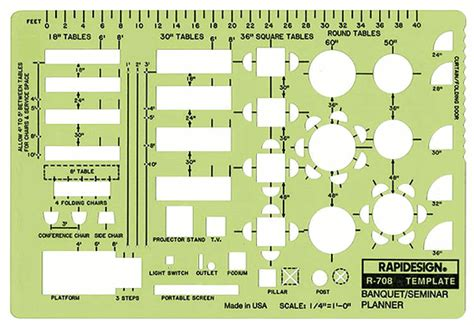 layout of a seminar rapidesign r 708 banquet planner drafting template