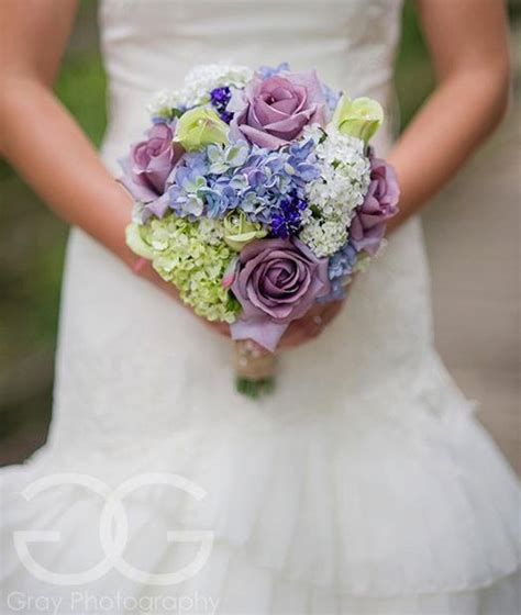 garden wedding bouquet lavender rose hydrangea by katesaidyes