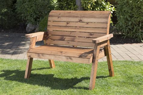2 seater wooden garden bench uk handmade fully assembled heavy duty wooden garden bench