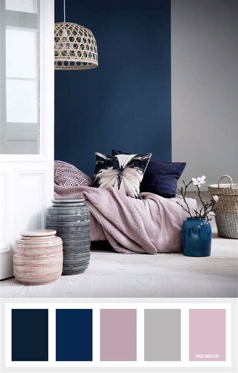 blue grey bedroom colour scheme navy blue mauve and grey color palette gray color