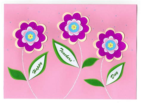 Handmade Teachers Day Card - azlina abdul s day cards