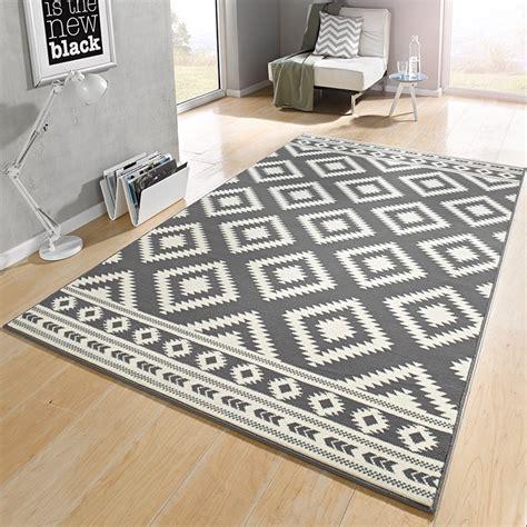 design teppich grau designer velours teppich ethno grau creme 102410