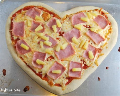 valentines day pizza recipe 4 shaped pizza