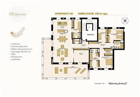 250 square meters to floor plans resort collina d oro