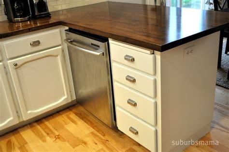 diy dark butcher block countertops with white cabinets ikea butcher block countertop upgrade give it an edge