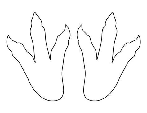 printable turkey head and feet dinosaur footprints pattern use the printable pattern for