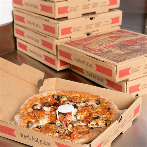 10 pizza box 10 quot x 10 quot x 1 3 4 quot kraft corrugated pizza box 50