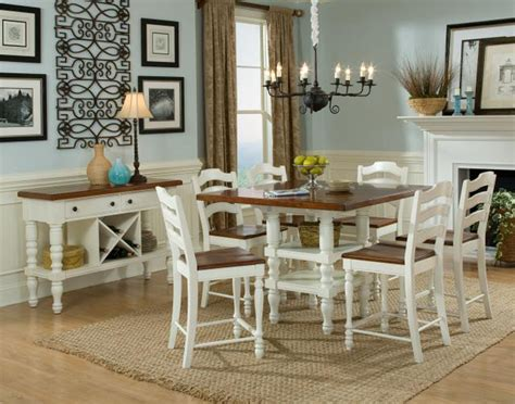 Cottage Dining Room Furniture Pub Style Dining Room Table Update Home Design Dining