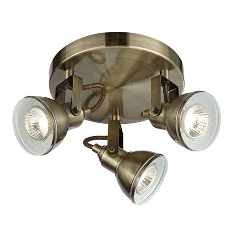 Spotlight Lighting Fixtures Searchlight Lighting Focus 3 Light Spotlight Fixture In Antique Brass Searchlight Lighting
