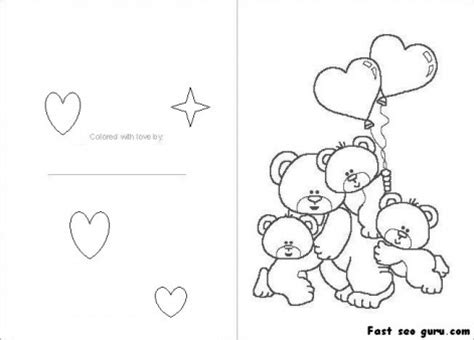 printable coloring pages valentines day cards printable valentines day card colorin in card printable