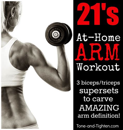 best at home arm workout with weights tone and tighten