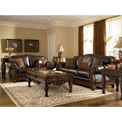 Living Room Collection by Shore Brown Living Room Set Signature Design