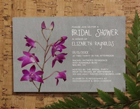 Dendrobium Orchid Bridal Invitations Bridal Shower Invitations Wedding Shower Party Invites Orchid Wedding Invitation Template