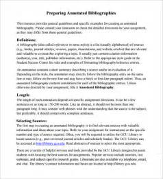 Annotated Bibliography Apa Template 9 annotated bibliography templates free word pdf