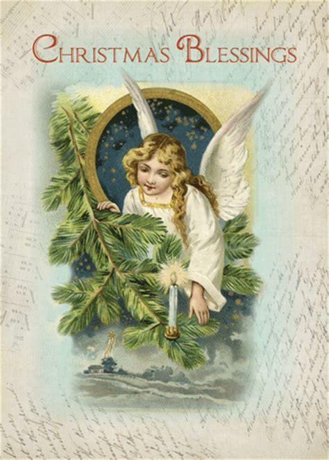 Vintage Religious Angel Blessings. Free Angel eCards