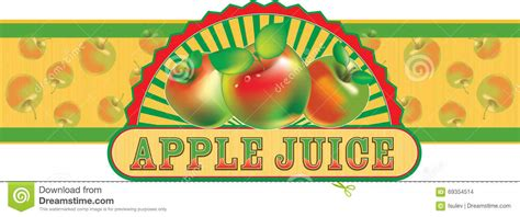 Apple Juice Aufkleber by Apple Juice Label Vector Illustration Stock Vector