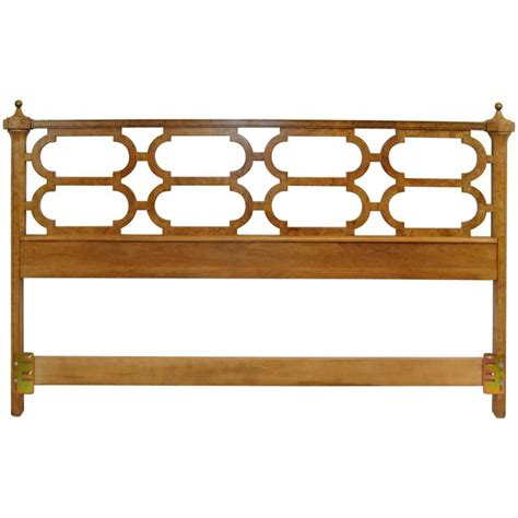 headboard finials king size olivewood headboard with brass finials by