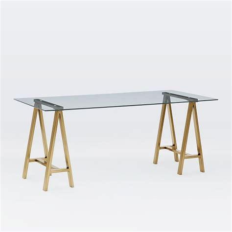 brass and glass desk cross base desk blackened brass elm