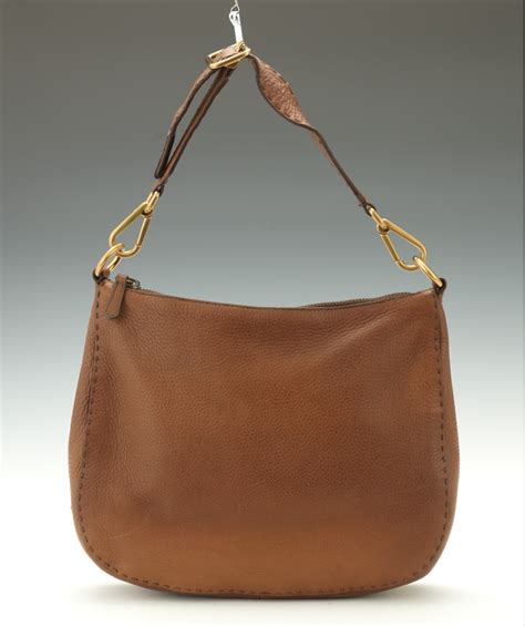 Prada Crispy Hobo Handbag by Prada Cervo Tobacco Leather Hobo Bag 03 28 14 Sold 143 75