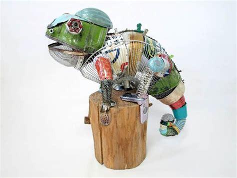 art of recycle esculturas de animales hechas de material reciclado