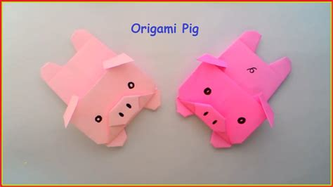 How To Make A Paper Pig - origami origami origami pig how to origami pig origami