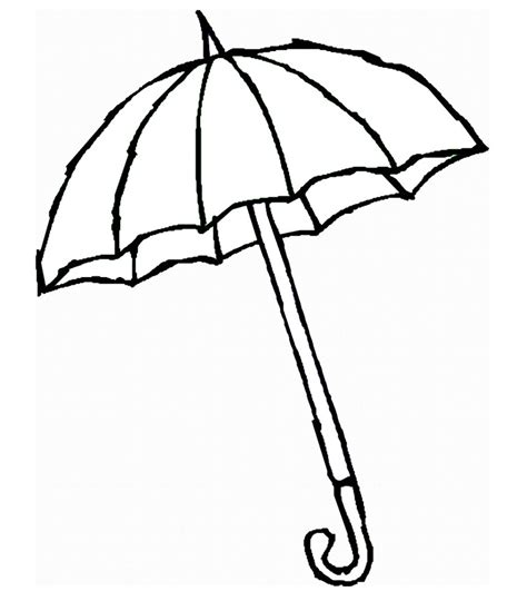 coloring page of umbrella umbrella coloring part 2