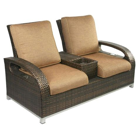 outdoor reclining loveseat reclining outdoor loveseat patio backyard garden etc