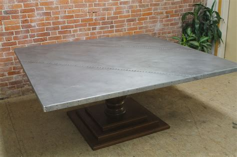 72 inch square table 72 inch square zinc table lake and mountain home