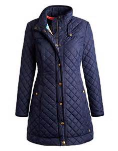 joules fairhurst quilted coat navy town