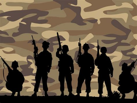 Band Of Brothers Army Backgrounds Business Multi Color Templates Free Ppt Grounds And Army Powerpoint Template