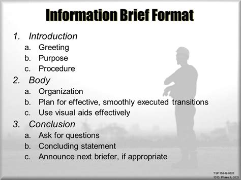 information brief template briefings ppt