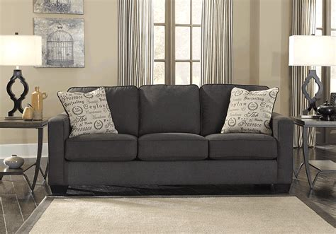 alenya charcoal queen sofa sleeper alenya charcoal queen sleeper sofa lexington overstock