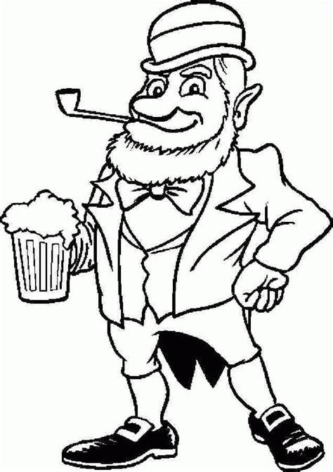 leprechaun coloring pages pdf saint patrick leprechaun colouring pages printable for