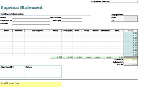 Excel Expense Report Template Mac
