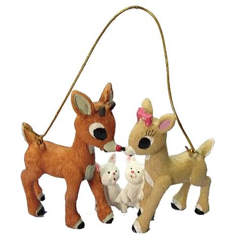 rudolph the red nosed reindeer 3 inch resin ornament