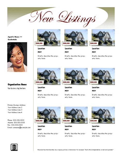real estate listing templates listing flyer luxury free flyer