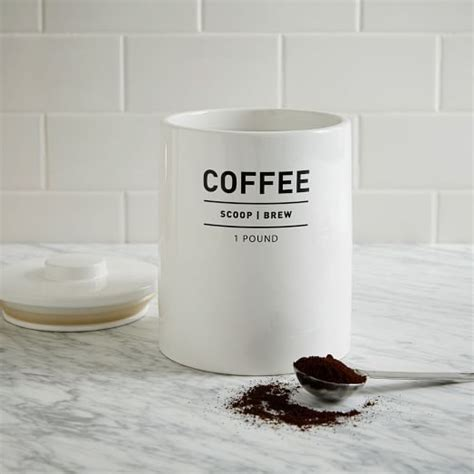 coffee canister canisters and west elm on pinterest