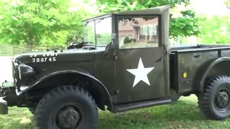 hd video   mt military dodge truck   sale wc  wc  air force army youtube