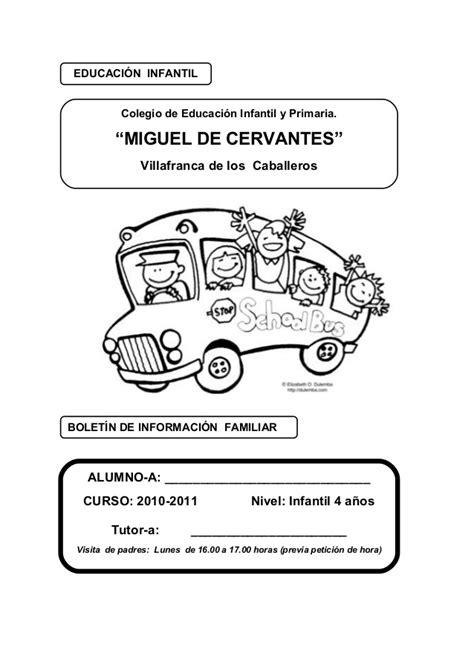 Boletin informacion familias_4_anos_miguel_de_cervantes