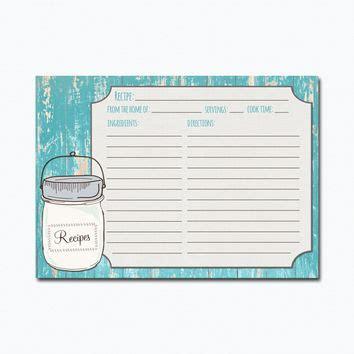 jar recipe card templates shop recipe jar on wanelo