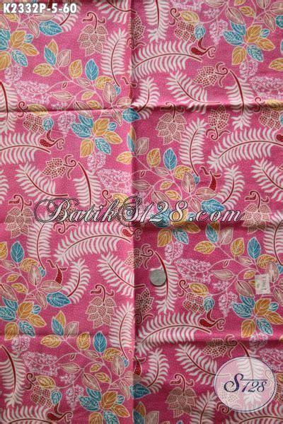 kain batik bahan dress warna pink batik printing motif