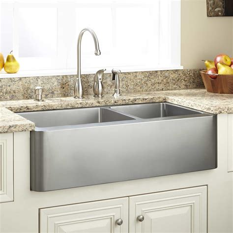 pictures of farm sinks 27 quot hazelton stainless steel farmhouse kitchen