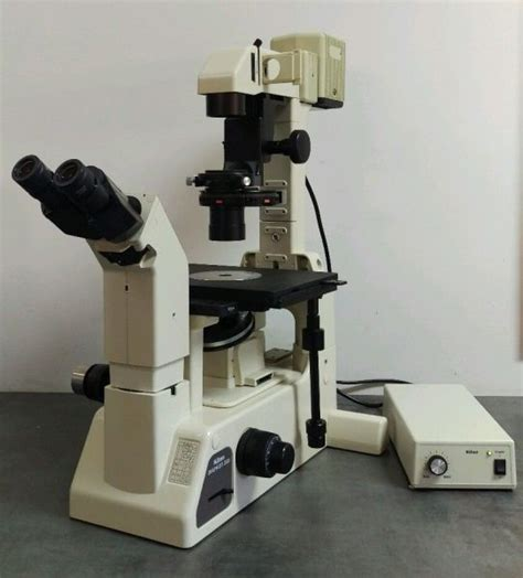 nikon microscope diaphot 200 phase contrast with adapter nc sc va md