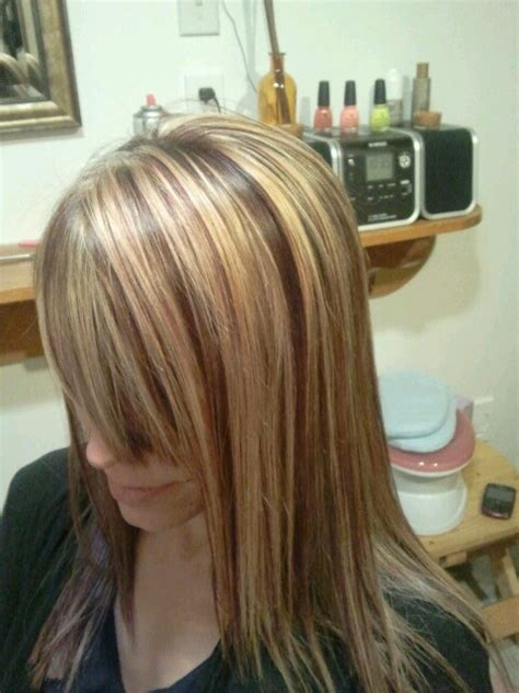 chunky red blonde and brown highlight pictures 83 best images about hair on pinterest chunky highlights