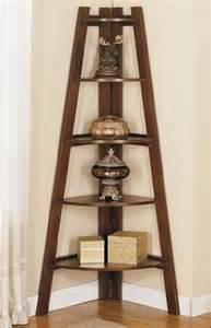 wooden corner shelves for wonderful small space