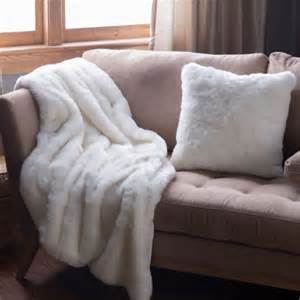 faux fur throw white throws soft bed sofa accent
