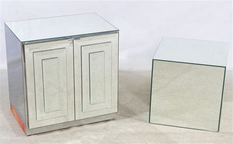 Cube Nightstand by Lot 263 Mirrored Nightstand And Cube Display Stand