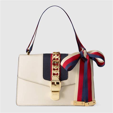 sylvie leather shoulder bag gucci handbags 421882cvleg8605