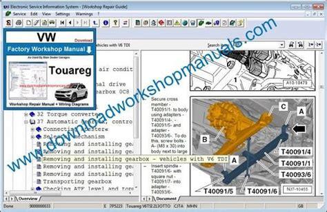 how to download repair manuals 2012 volkswagen touareg seat position control vw touareg workshop repair manual