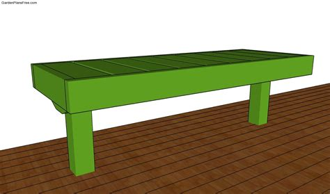 bench plans for free deck bench plans free